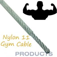 China Nylon Coated Steel Cable , 11 Gym Steel Wire Rope Customized Available wholesale