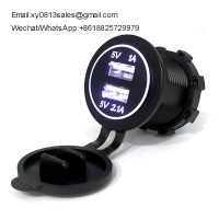 China China Factory Full Waterproof 3.1A/4.2a Car Mobile phone Charger used on bus motorcycle marine wholesale