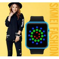 China Fashion Simple Cool Colorful Boys and Girls Led Creative Wrist Watch WR 30M PU Strap Watches 1176A wholesale