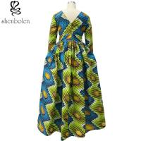China Traditioncal African Attire Dresses And Skirts Clothing Elegant Round Collar wholesale