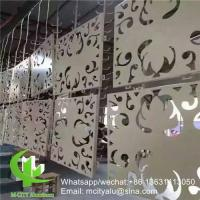 China hollow pattern 2.5mm aluminum cladding panel with pvdf finish for facade curtain wall solid panel single panel wholesale