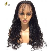 China Kinky Curl Full Lace Human Hair Wigs Soft Silky With Customized Color wholesale