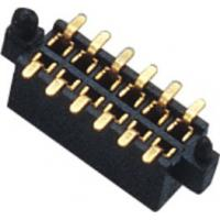 China 1.27mm Dual Row 180° SMT Pin Header Connector Female With Different Post And Metal wholesale