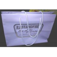 China Gravure Printed Soft Plastic Shopping Bags Multi Size With Rope Handle wholesale