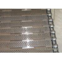 China Precise Plate Chain Conveyor Belt Durable Knuckled Selvedge 10.0mm Thick wholesale