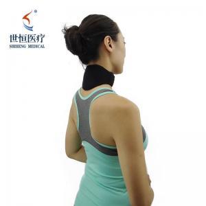 China Soft Neck Brace Vertebra Self-heating Tourmaline Black Medical Neck Guard wholesale