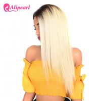 China 1B 613 Ombre Blonde Human Hair Lace Front Wigs Bleached Knots Swiss Lace wholesale