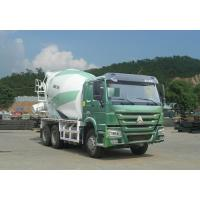 China Green Concrete Mixer Truck 10 Cbm With Safety Belts For Driver on sale