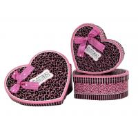 Wholesale Heart Shaped Gift Box 2 - with pink ribbon and chocolate color from china suppliers