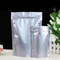 China Airtight Stand Up Foil Pouch Packaging Vertical Silver Aluminum Foil Bag With Ziplock And Spout on sale