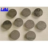 China Wide Temperature CR Button Battery 600mAh 3V Silver Color 24 * 5.0MM wholesale