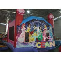 China 4x4m 0.55mm PVC Viyle Tarpaulim Inflatable Princess Jumps For Girls wholesale