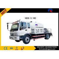 China PLC Control Cement Mixer Trailer , Concrete Pump Equipment With Wired Remote Controller wholesale