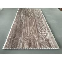 China Recyclable Brown PVC Wood Panels As Ceiling Covering 7.5mm Thickness wholesale