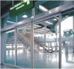 Stable performance slender shape Automatic Glass Sliding Doors high-power