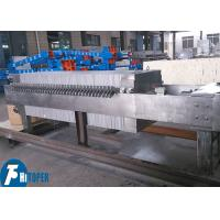 China Solid Liquid Separation Machine Stainless Steel chamber Filter Press Filter plate size 400*400 on sale