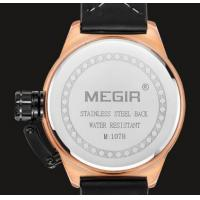 Quality 2017 New Meigr Fashion Navigation Multifunction Genuine Leather Strap Waterproof 30m Watch With Date Luminous  1078G for sale
