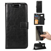 Shock Absorbent Wallet Leather Case For Samsung S8 61.7g Side Open Press Print