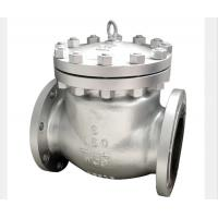 China BW Flanged End Swing Check Valve Stellited Threaded Seat WCB CF3M CF8M Alloy 20 wholesale