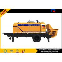 Quality High Pressure Concrete Trailer Pump , Concrete Pumping Machine Filling Height 1.4M for sale