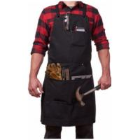 China Adjustable Water Resistant Apron With Tool Pockets , Waxed Canvas Work Apron on sale