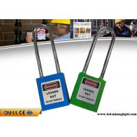 China 76 Mm Steel Safety Lockout Padlocks With Plastic Lock Body Corrosion Resistance on sale