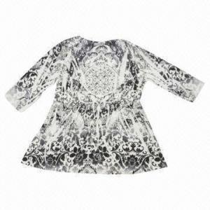 China Printed Long-sleeved Blouse wholesale