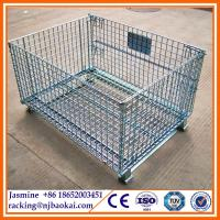 China galvanized collapsible steel wire stillage wholesale