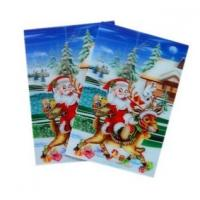 China Merry Christmas plastic 3d lenticular lens printing sticker flip animation Wall Sticker wholesale
