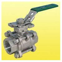 China ISO 5211 Locking Handle 3 Port Ball Valve Stainless Steel NPT Thread wholesale