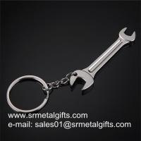 China Metal Lever Tool Key tag Key Rings, Alloy Wrench Spanner Car Keychains in stock, wholesale