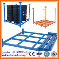 "China 80"" X 80"" X 60"" Stackable storage steel tire pallet rack(2032 X 2032 X 1524 mm) wholesale"