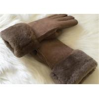 Buy cheap Warmest Sheepskin Leather gloves MENS SUEDE SHEARLING LINED WINTER GLOVES from wholesalers
