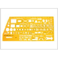 China Kearing Brand Transparent yellow color military stencil  for operational command #8353 wholesale