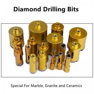 China Stone 100mm Diamond Core Drill Bit , 68mm Sintered Diamond Drill Bits on sale