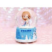 China Transparent Crystal Home Decorations Crafts , Rotating Crystal Ball Music Box wholesale