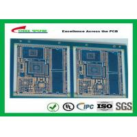 China Blue Solder Mask GPS PCB 6 Layer FR4TG150 1.6MM Immersion Gold Half Holes wholesale