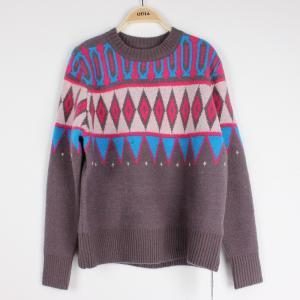 China Casuel Jacquard Sweaters For Women Aran Christmas Knit Jumper  Knit Pattern wholesale