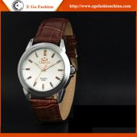 China 005A New Fashion Women Men Quartz Stainless Steel Watch Rhinestones Couple Leather Watches wholesale