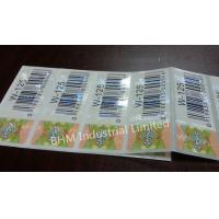 Wholesale Waterproof 15 microns Anti - Counterfeit Sticker Security Label , Security Hologram Sticker from china suppliers