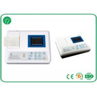 China 3.5 Inch Colour Lcd 3 Channel Portable 12 Lead Ecg Machine 100 Patient Save wholesale