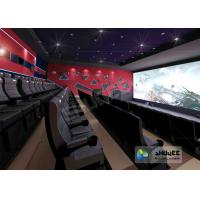 China 4D Red / Black Movie Theater With Motion 3 DOF Chair And Special Effect In Hall wholesale