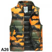 China 2015 Moncler vest men winter jacket duck down camouflage vest wholesale
