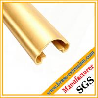 OEM chinese manufacturer stairs handrail brass extrusion profiles
