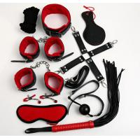 Buy cheap Red Sex Toys 10 Pieces Sets Sex Fetish Good Blindfold Silk Tie Whip For Couples from wholesalers