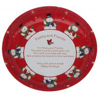 China Christmas Round Tin Serving Trays wholesale