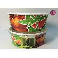 Buy cheap Custom Logo Flexo Print Paper Salad Bowls Disposable 44oz With Lid from wholesalers