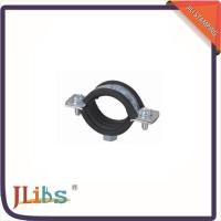 China M7 Nut Metal Cast Iron Pipe Clamps High Temperature With Rubber Line 134048 wholesale