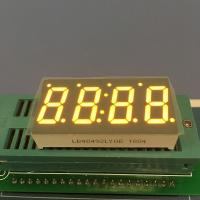"China 0.49 "" LED 7 Segment Display Amber Color For Temperature Indicator wholesale"