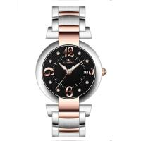 China 40.0mm japan movt with calendar full stainless steel watches ,Men's steel wrist watch wholesale